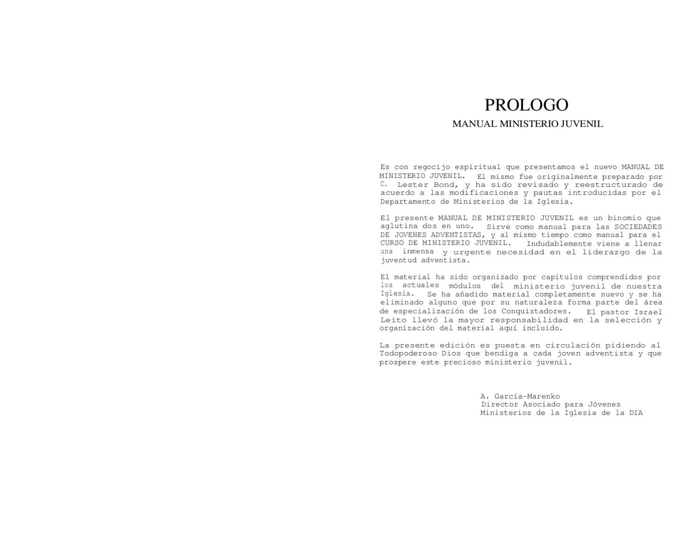 MANUAL DEL MINISTERIO JUVENIL by Rodrigo Melendez - issuu