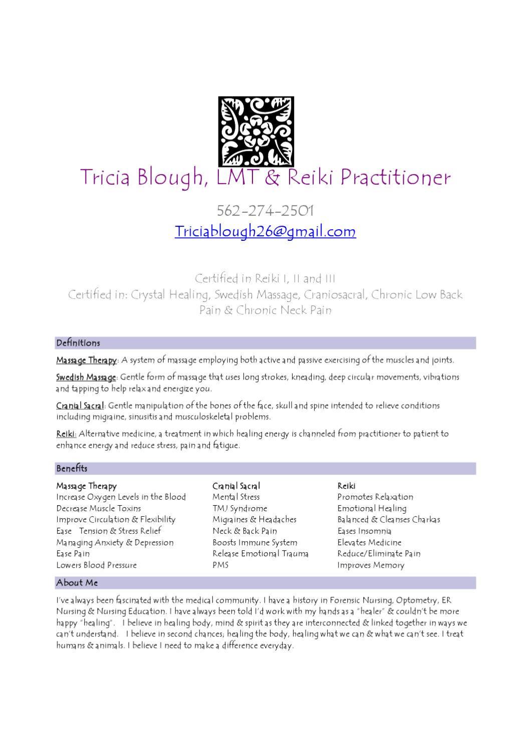 Tricia Blough Therapy Flyer by luan evans - issuu