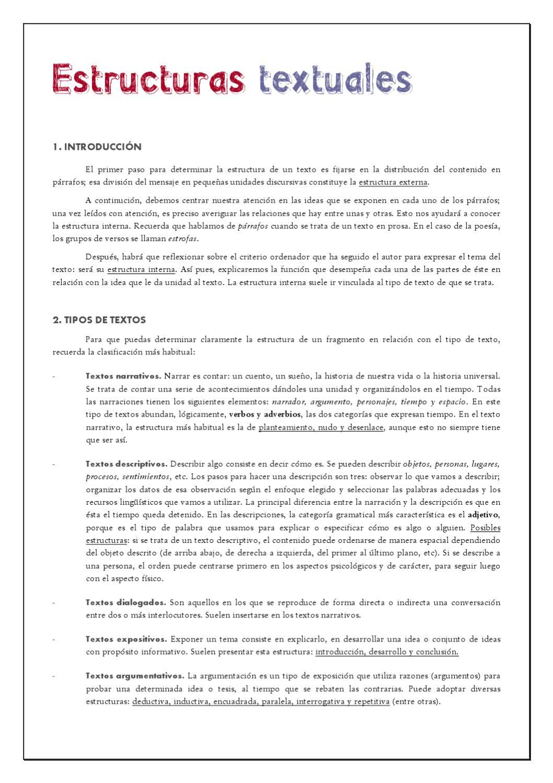 Estructuras Textuales By Instituto De Secundaria Ies Clara