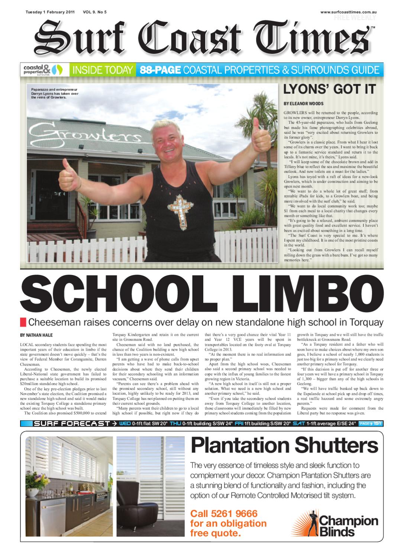 Surf Coast Times Feb 1 by Surf Coast News Australia Pty Ltd - issuu 3ad1d5344f9