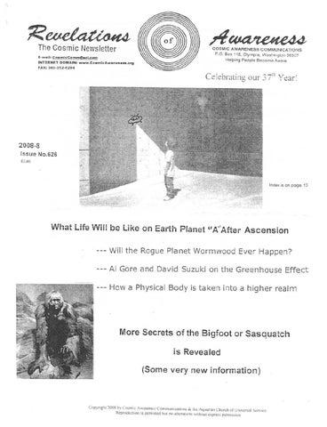 Cosmic Awareness 2008-08: Will Planet X Ever Happen?