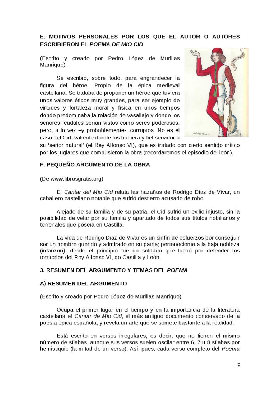COMENTARIO DE TEXTO POEMA DE MIO CID by cidacos ebro - Issuu
