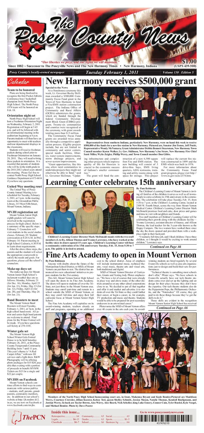 The Posey County News - February 1st 2011 by The Posey