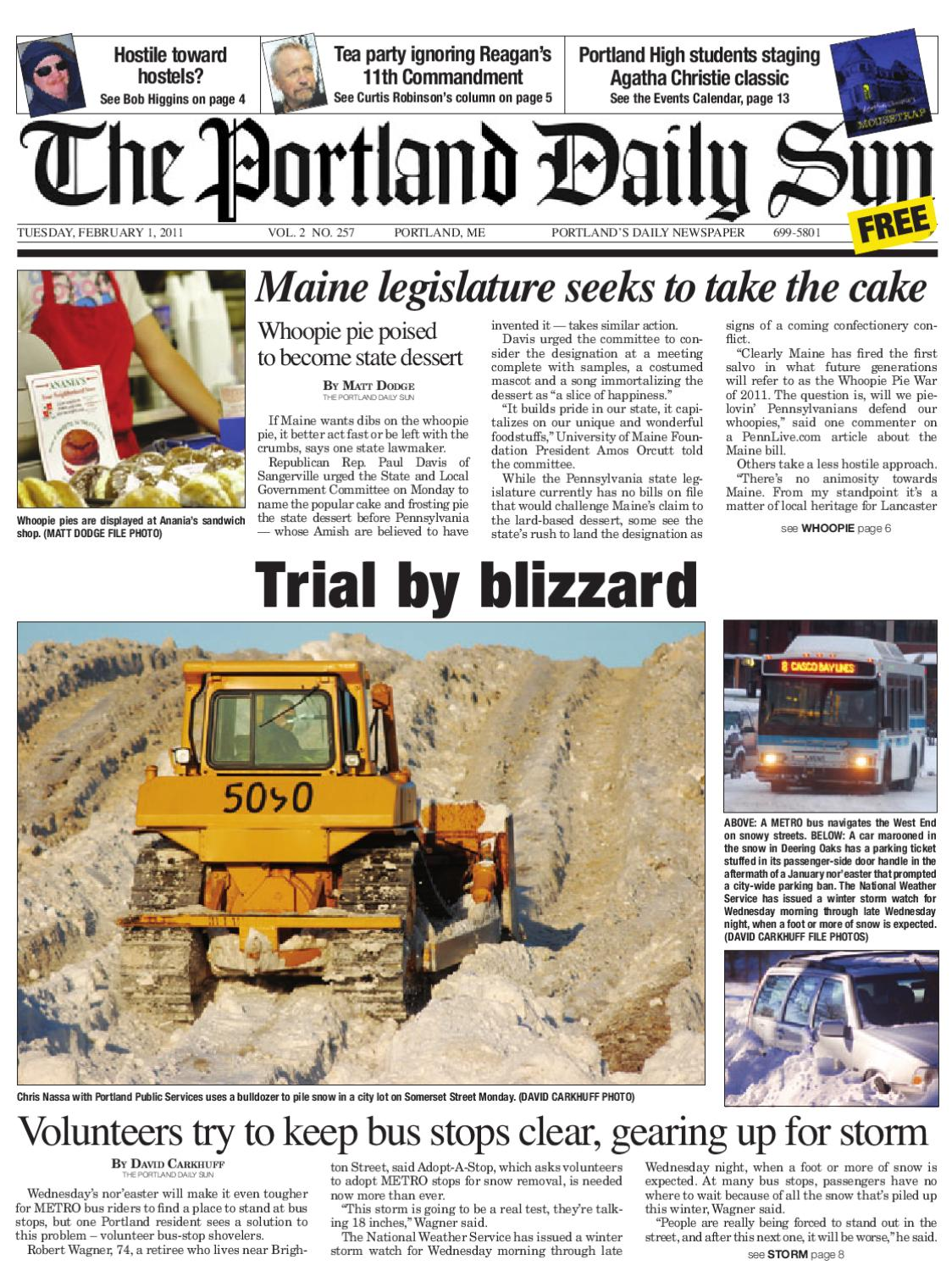 The Portland Daily Sun, Tuesday, February 1, 2011 by Daily Sun - issuu