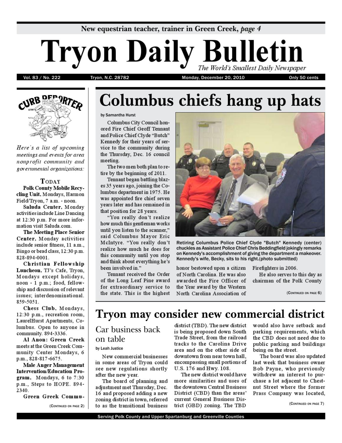 12-20-10 by Tryon Daily Bulletin - issuu