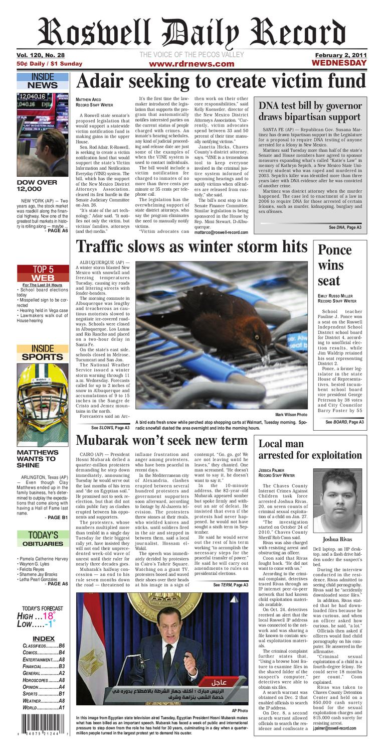 0ce9486e962 02-02-2011 by Roswell Daily Record - issuu