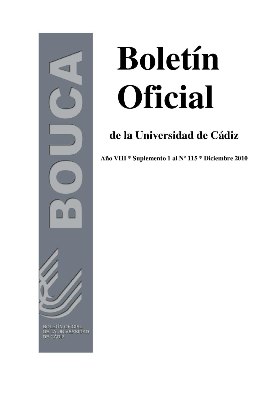 Suplemento 1 al BOUCA núm. 115 by Universidad de Cádiz - issuu
