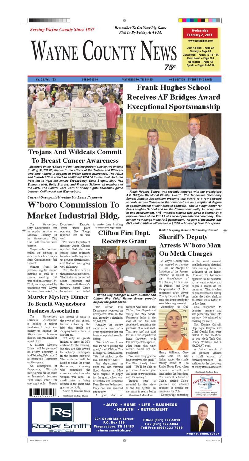 Wayne County News 02-02-11 by Chester County Independent - issuu