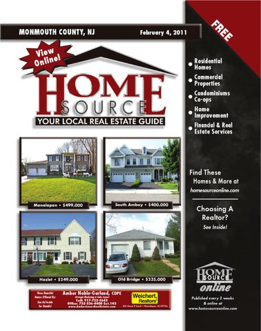 Monmouth County, NJ February 4, 2011 • Home Source Magazine