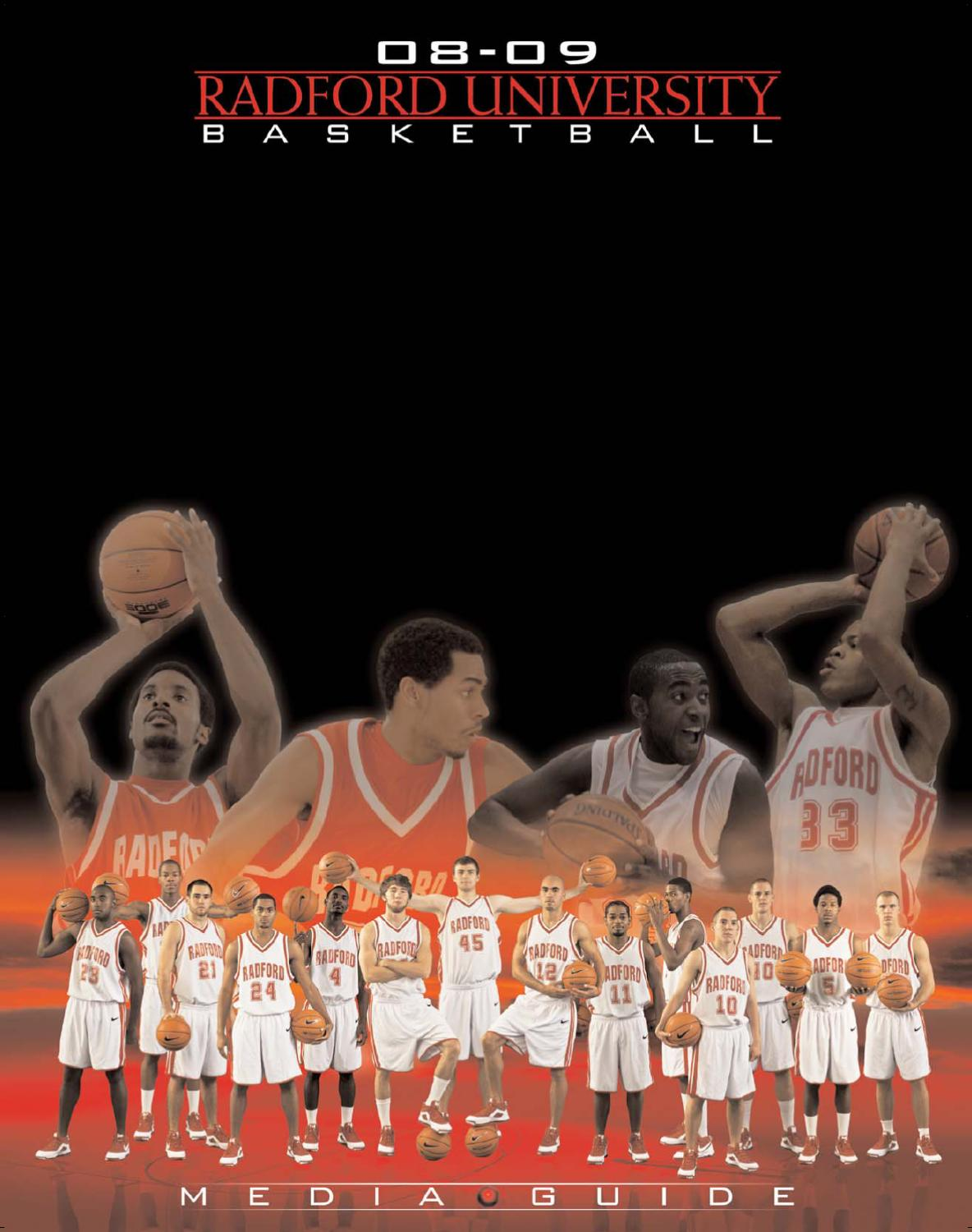 2008 09 radford men 39 s basketball media guide by radford for Conference table 1998 99