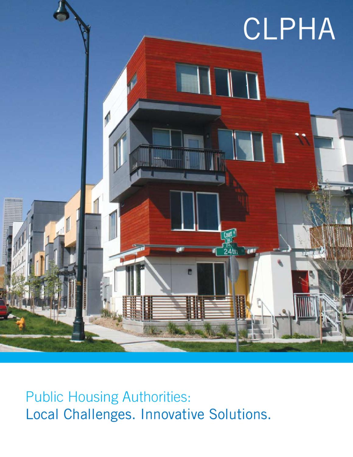 public housing authorities: local challenges. innovative solutions