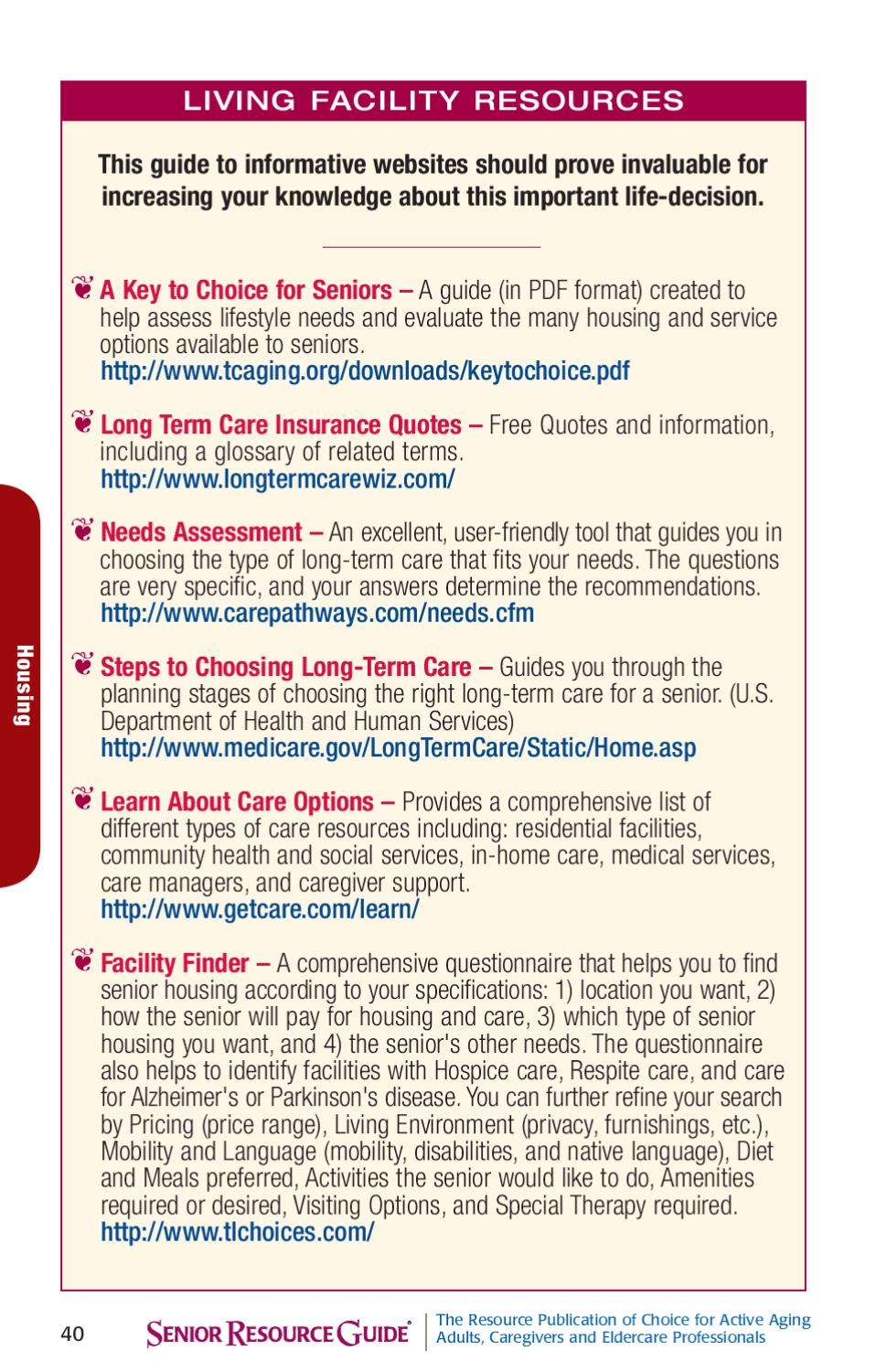 Long Term Care Insurance Quotes Senior Resource Guide Southeastsrg Services Inc Issuu