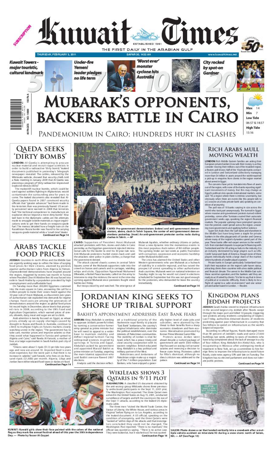 3 Feb By Kuwait Times Issuu
