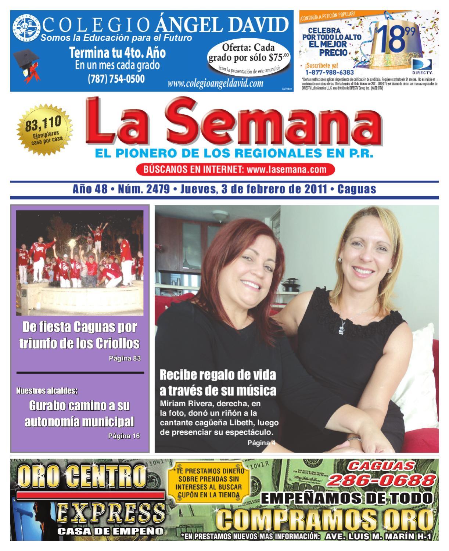 Periodico La Semana Edicion 2505 By Daniel Aranzamendi Issuu # Limpio Muebles Caguas