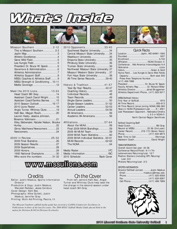 2010 Missouri Southern Softball Guide By Justin Maskus Issuu Wiring Diagram Hornet 740t