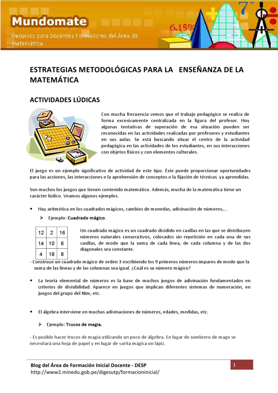 Actividades lúdicas by Aula virtual Área de Formacion Inicial ...
