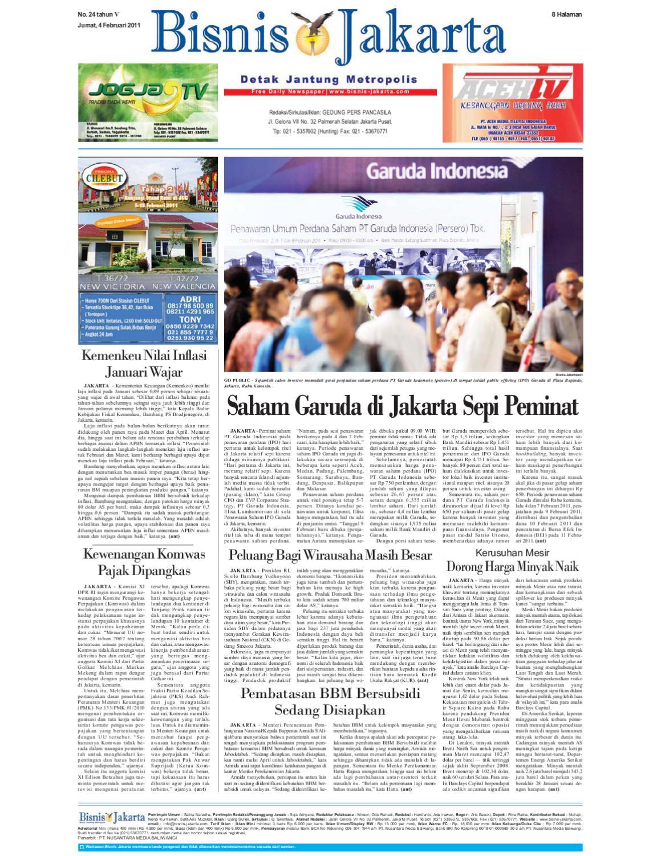 Bisnis Jakarta Jumat 04 Februari 2011 By E Paper Kmb Issuu Produk Umkm Bumn Kapal Batok Lebak