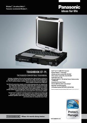 Powered On Panasonic ToughBook MK-3  CF-19 Core 2 Duo 2 GB Ram BIOS PASSWORD