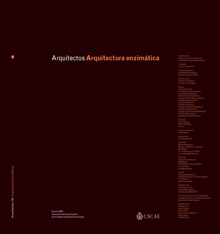 Arquitectos 179: Arquitectura enzimática by Carlos Ramos - issuu
