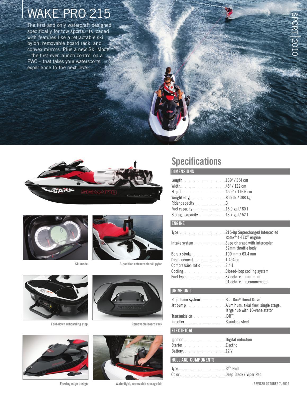 Seadoo wake pro 215 brochure by Myboatingshop com - issuu