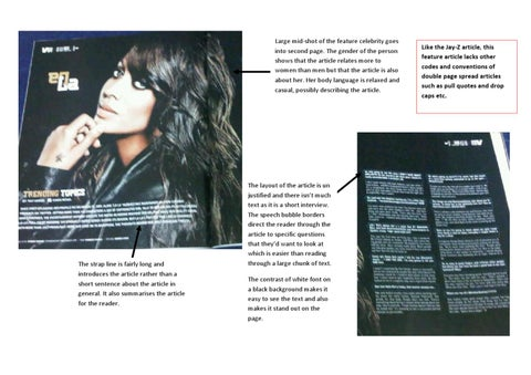 LaLa Vasquez Double Page Spread Analysis by Llana Samuel - issuu