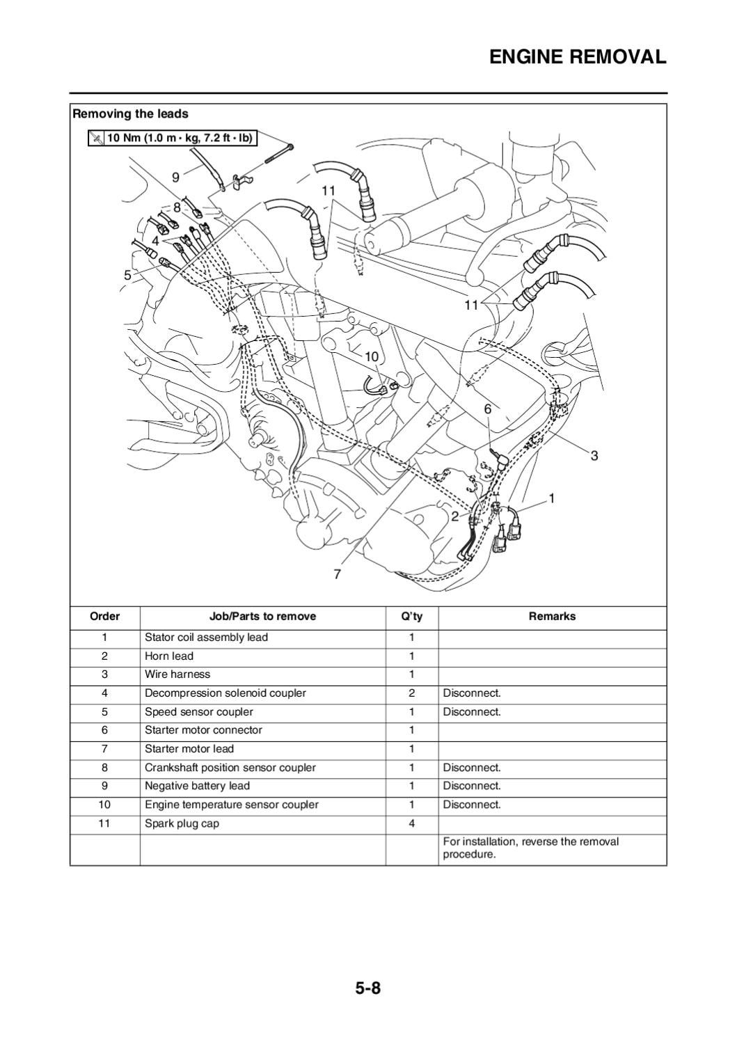 Mt01 Service Manual By Parag Grewal Issuu Cam Position Sensor Wiring Harness