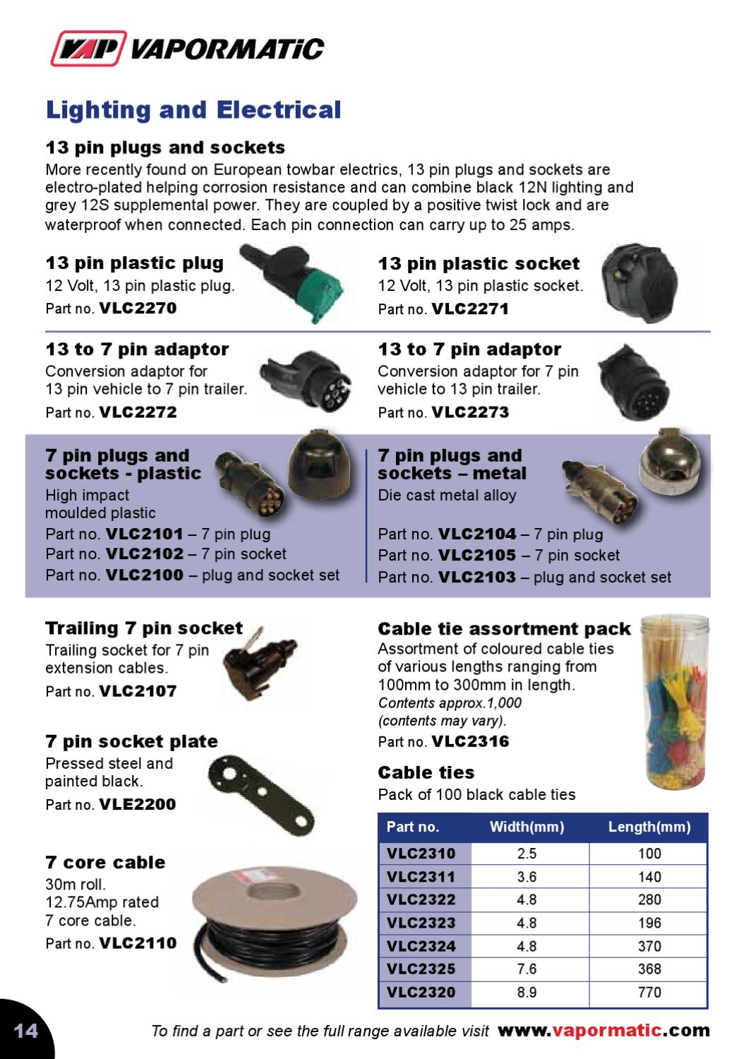 Vapormatic Trailer Parts Catalogue By The Co Ltd Issuu 30m X 5 Core Cable Wiring Wire Lights