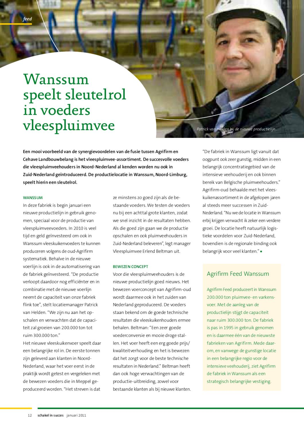2baef65d9e6 Schakel in succes nr. 1 - januari 2011 by Agrifirm - issuu