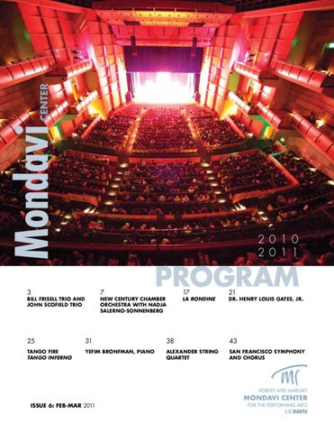 Playbill Issue 6: Feb-Mar 2011 by Robert and Margrit Mondavi Center ...