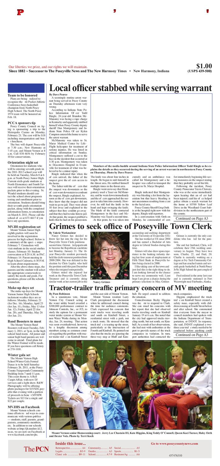 The Posey County News February 8 2011 Edition By International 9800 Fuse Box Issuu