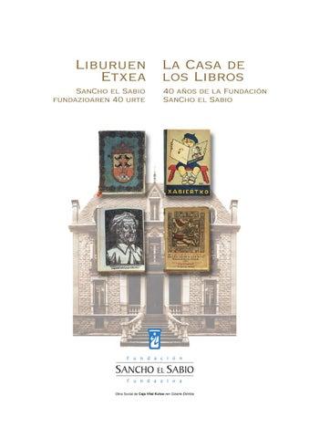 e9c610cf13c8b La casa de los libros by FUNDACION SANCHO EL SABIO FUNDAZIOA - issuu