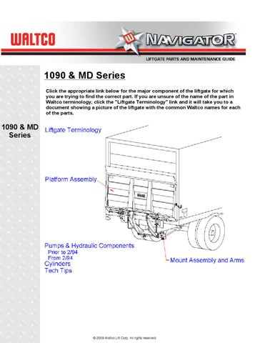 Waltco 1090 MD Series Liftgate by THE Liftgate Parts Co. - issuu on