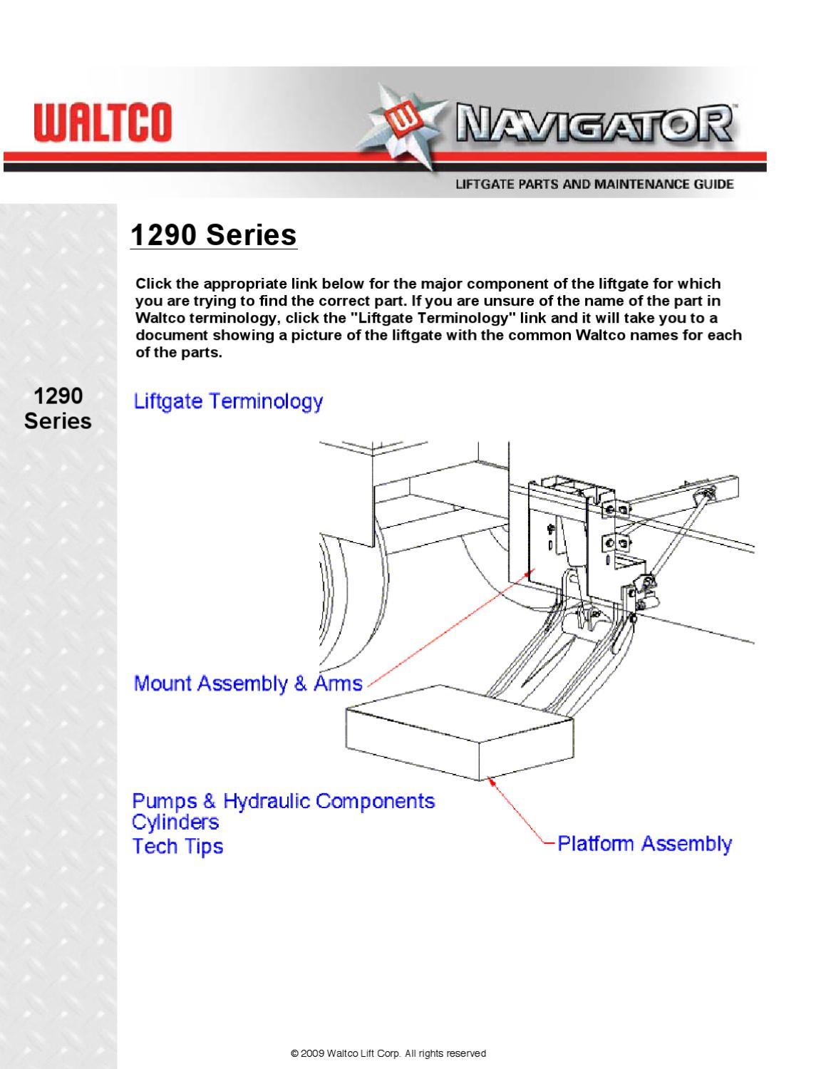 Hydraulic Lift Gate Parts : Waltco series liftgate by the parts co issuu