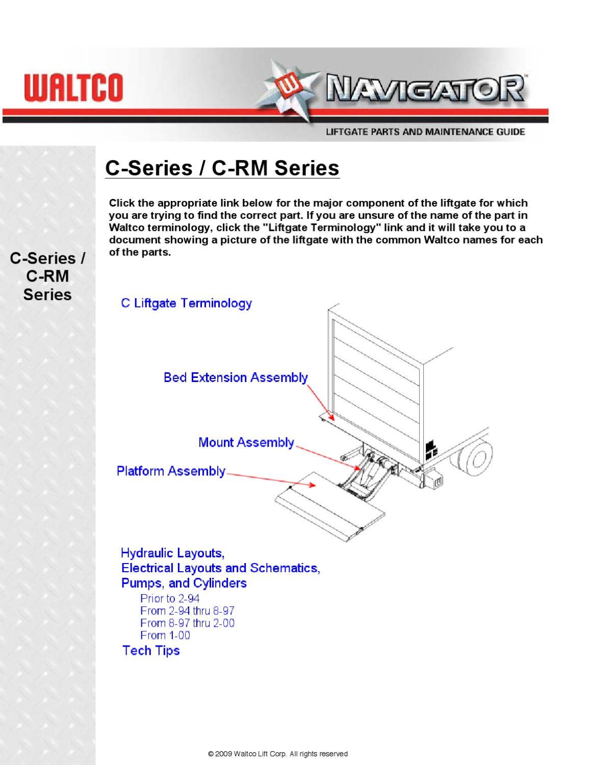 waltco c series liftgate by the liftgate parts co issuuWaltco Hydraulic Pump Wiring Diagram #11