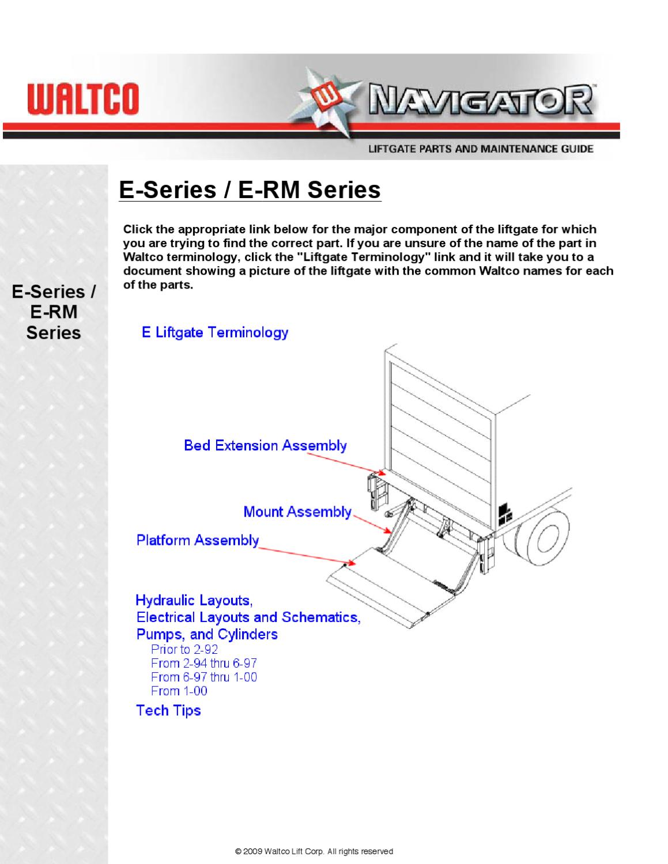 Waltco E Series Liftgate ...