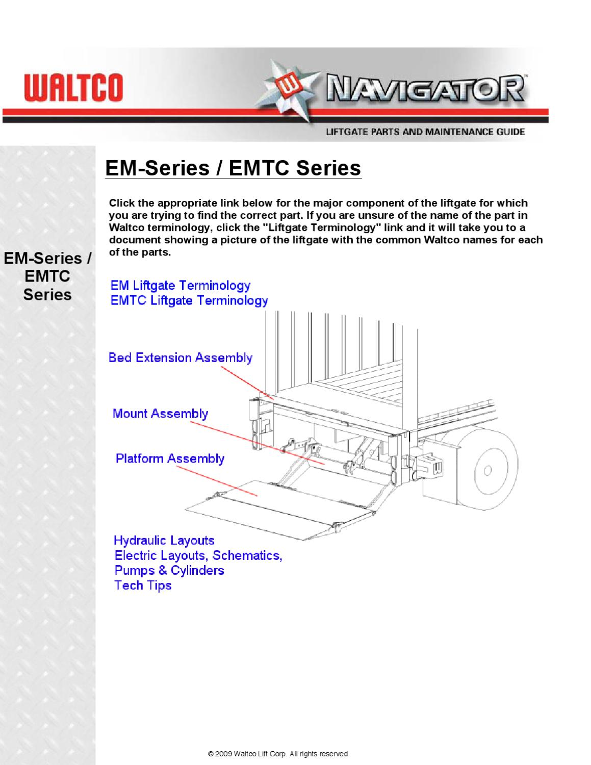 Waltco EM Series Liftgate by THE Liftgate Parts Co issuu – Leyman Liftgate Wiring Diagram