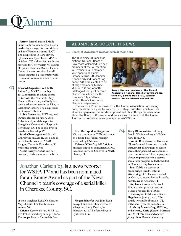 Quinnipiac Magazine Winter 2011 by Quinnipiac University - issuu