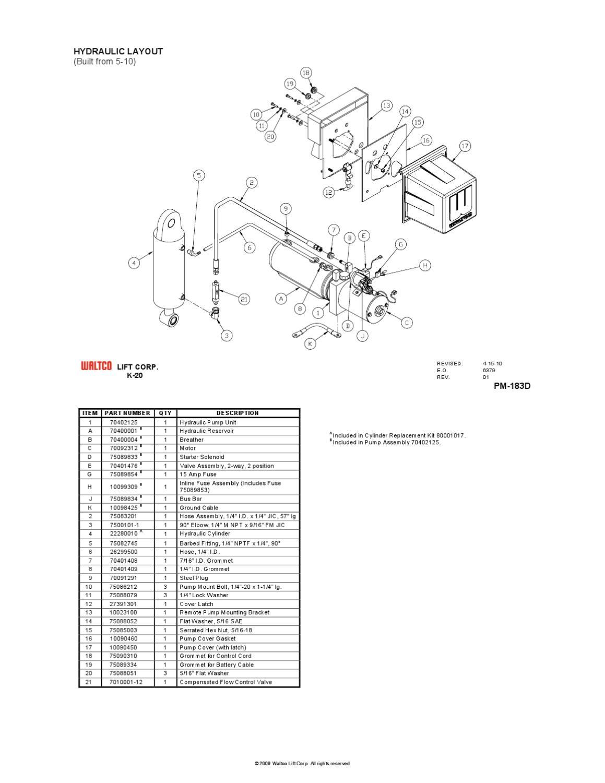 Waltco Liftgate Pump Parts Catalog Hydraulic Wiring Diagram Series The Co Issuu 1159x1500