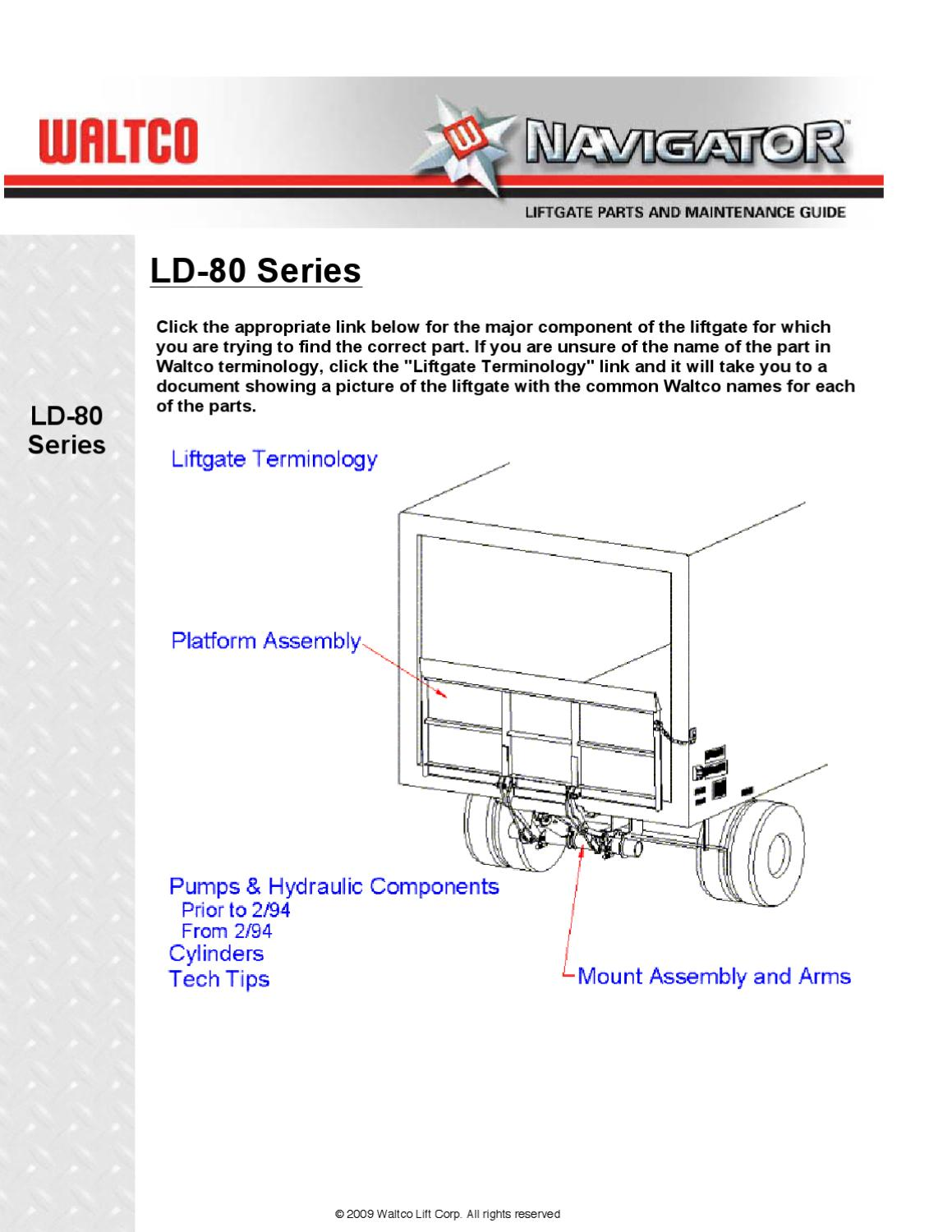 waltco ld 80 series liftgate by the liftgate parts co issuu western plow pump diagram waltco hydraulic pump wiring diagram #2