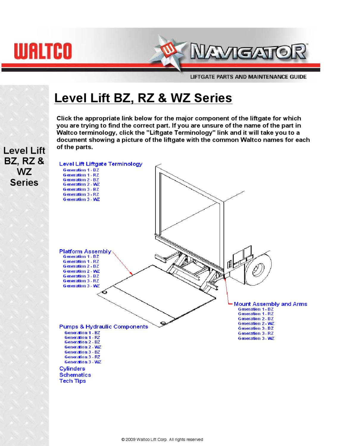 Waltco Level Lift Series Liftgate By The Liftgate Parts Co
