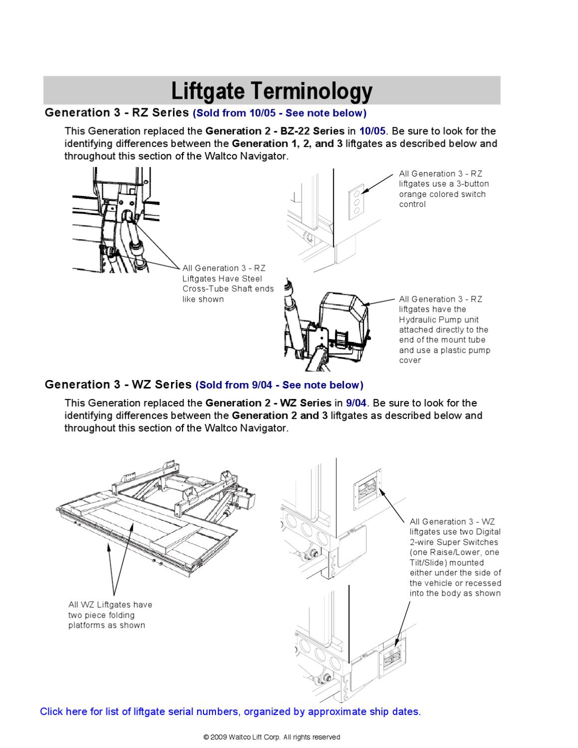 Waltco Level Lift Series Liftgate By The Parts Co Issuu Wire Switch In As Shown Below