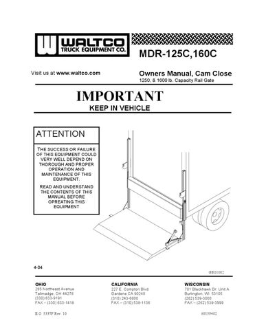 Waltco MDR-C Series Liftgate by THE Liftgate Parts Co. - issuu on jlg wiring diagram, workhorse wiring diagram, clark wiring diagram, heil wiring diagram, american wiring diagram, roadmaster wiring diagram, lull wiring diagram, eagle lift wiring diagram, muncie wiring diagram, autocar wiring diagram, reading wiring diagram, versalift wiring diagram, western wiring diagram, volvo wiring diagram, hyundai wiring diagram, hyster wiring diagram, case wiring diagram, wabco wiring diagram, altec wiring diagram, knapheide wiring diagram,