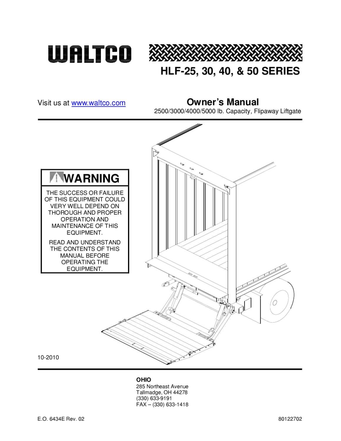 Waltco HLF Series Liftgate by THE Liftgate Parts Co  Issuu