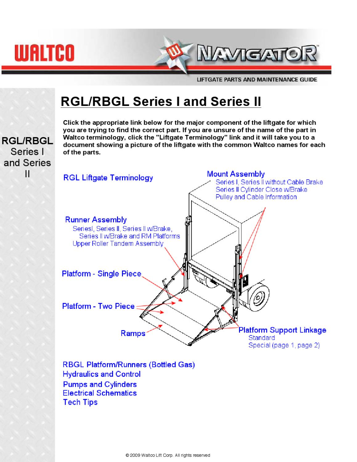 page_1 waltco rgl series liftgate by the liftgate parts co issuu waltco liftgate wiring diagram at eliteediting.co