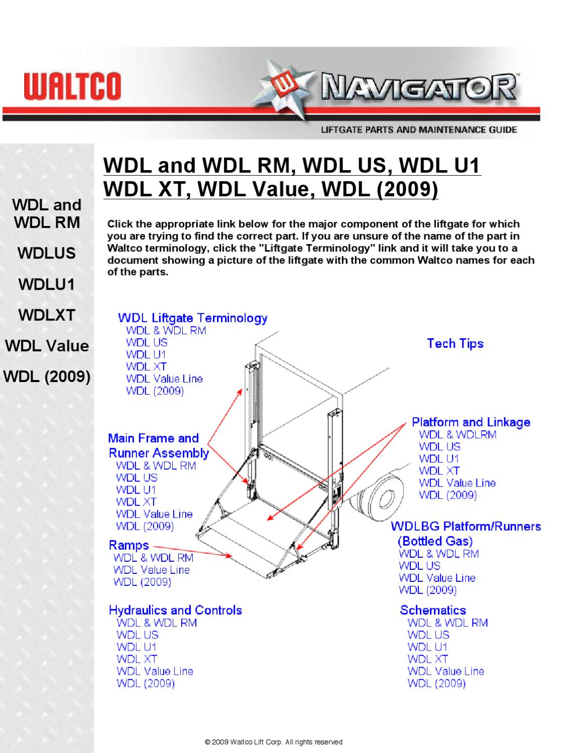 page_1 waltco wdl series liftgate by the liftgate parts co issuu waltco liftgate wiring diagram at eliteediting.co