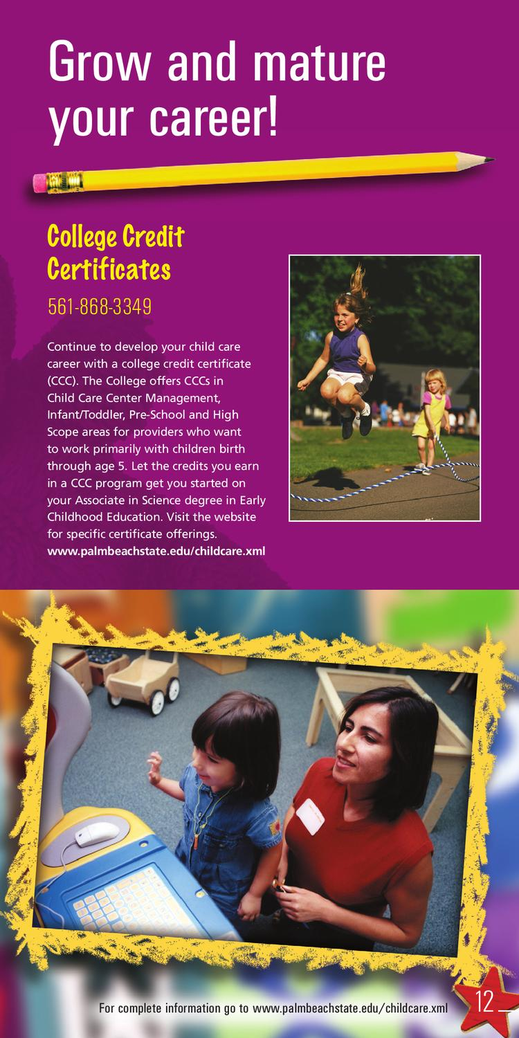 Childcare Programs By Palm Beach State College