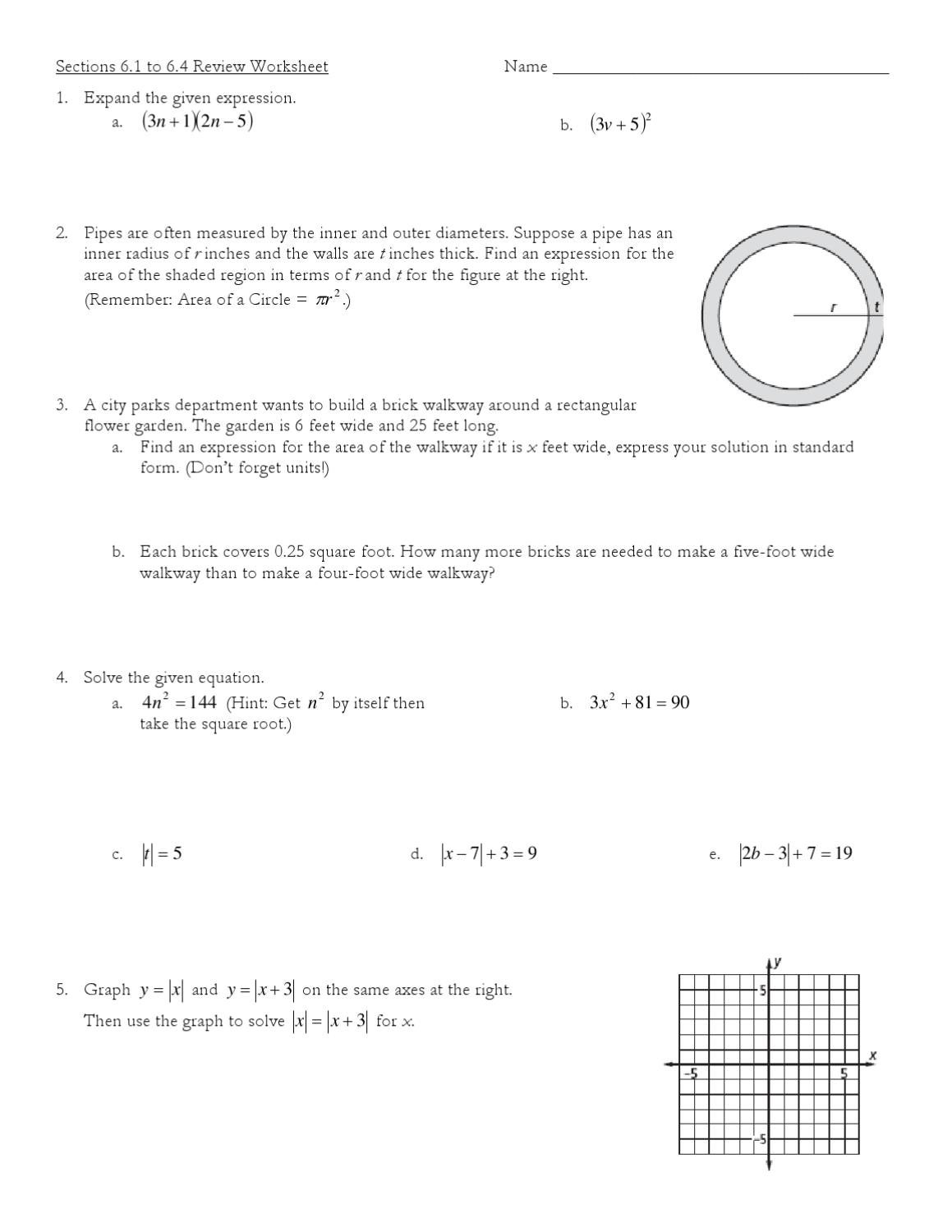 Sections 61 To 64 Review Worksheet By Josh Stegman Issuu