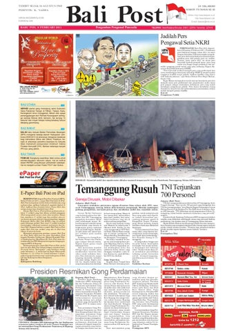 Edisi 9 Februari 2011 Balipost Com By E Paper Kmb Issuu