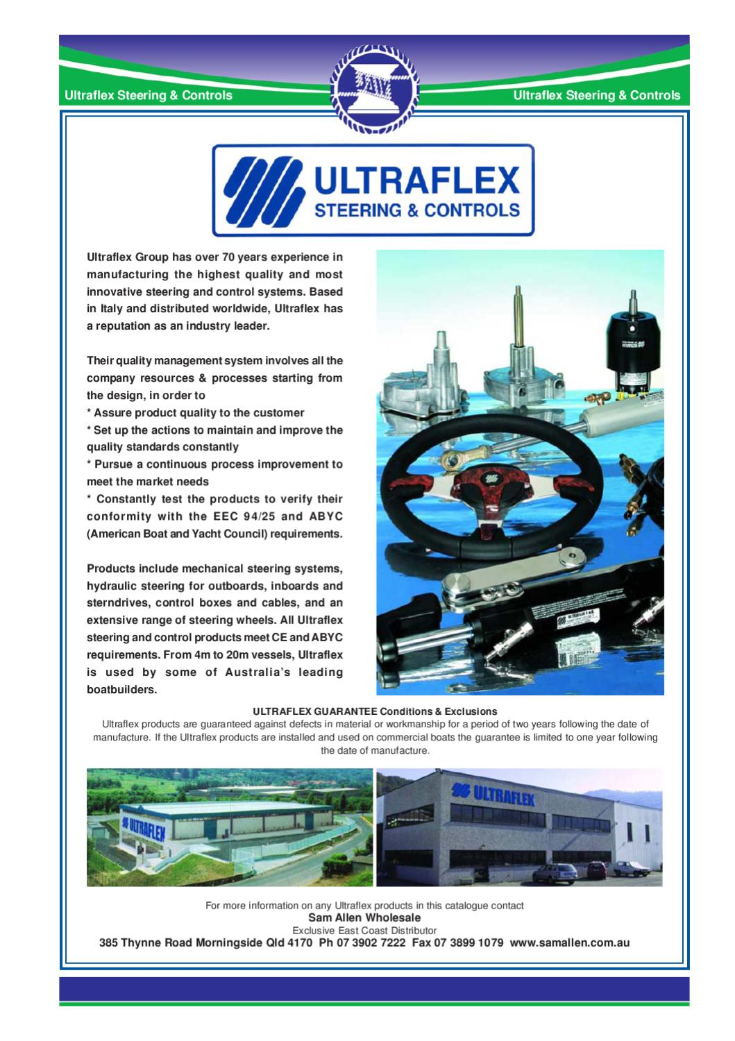 Sam Allen Boat Steering Ultraflex by Myboatingshop com - issuu