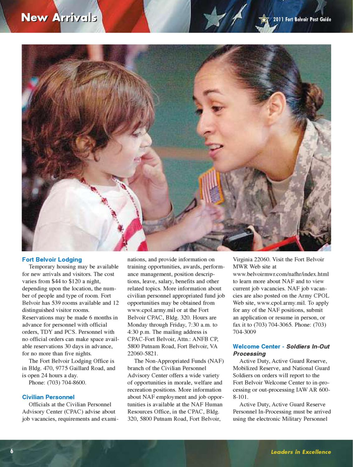 Fort Belvoir Post Guide & Directory - 2011 by Fort Belvoir DFMWR - issuu